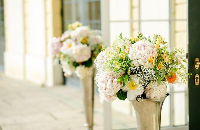 Frühlingshochzeit, Hochzeitsdekoration