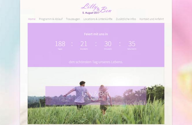 Hochzeitshomepage Beispiel Wedding Homepages