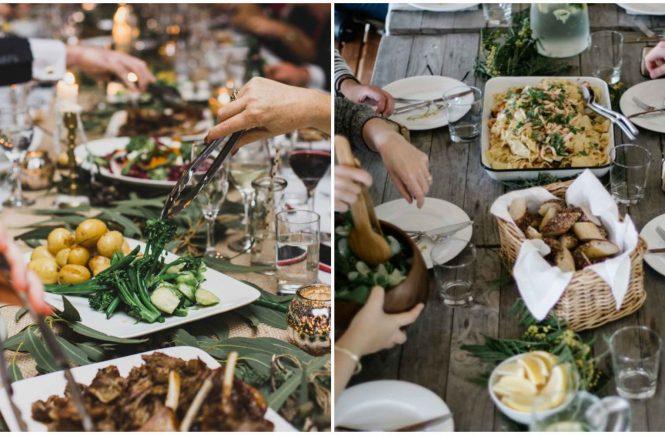 Family Style Dinner Hochzeitsessen