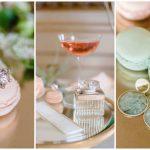 Hochzeitsinspiration in Grün und Apricot Schmuck