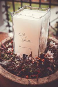 Styled Shoot Bergverliebt - Freie Trauung, Hochzeitskerze